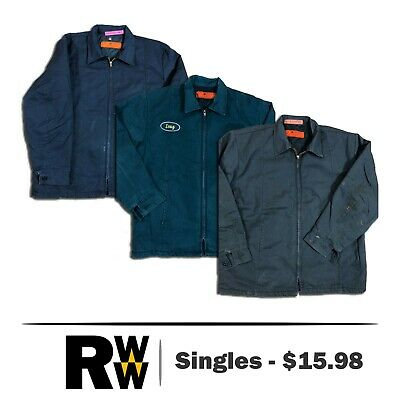 Red Kap Men's Perma Lined Panel Jacket JT50 Navy / Charcoal / Green Work Uniform