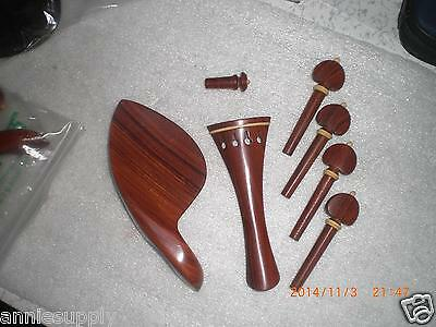 1 Set Best Quality Rose Wood Violin parts 4/4 with Tail piece chin rest pegs end