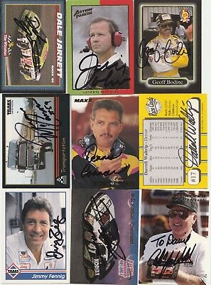 100 Autographed NASCAR trading cards