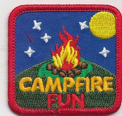 Girl Boy Cub CAMPFIRE NIGHT Fun Patches Crests Badges SCOUT GUIDE camp bon fire