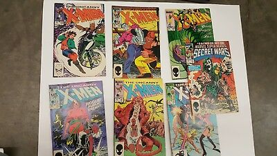 Lot of 12  1980s UNCANNY X-MEN Comics and 2 other titles
