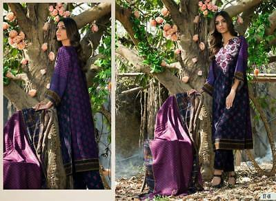 Designer SHARIQ Sabeen Pasha Embroidered Khaddar cotton Salwar Kameez*free ship*