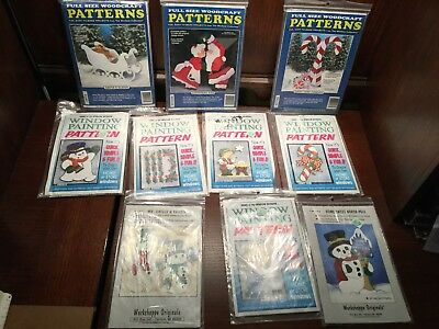 Christmas Woodcaft Patterns Window Painting Patterns Decorations Plans Wood