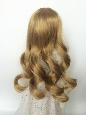Centre Parting Long Hair Curly Wig for BJD Ball-jointed Doll SD Super Dollfie