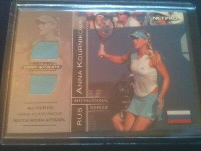 ANNA KOURNIKOVA 2003 NETPRO 2-PIECE MATCH-WORN RELIC CARD #'d 175/500 SICK! HOT!