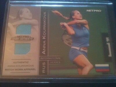 ANNA KOURNIKOVA 2003 NETPRO 2-PIECE MATCH-WORN RELIC CARD #'d 484/500 SICK! HOT!
