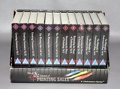 Creating Customers Printing Sales Life Answers Series Audio Cassette Vol 1-12