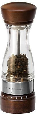 COLE & MASON Keswick Wood Pepper Grinder - Wooden Mill Includes Gourmet...