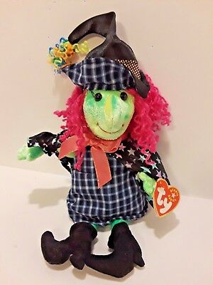 TY Beanie Baby - SCARY the Witch (7 inch) 2000  Halloween Beanie