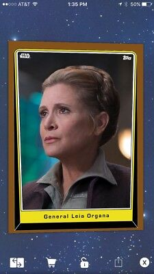 Topps Star Wars Card Trader General Leia Organa Brown S5 Variant Digital