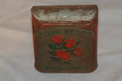 Vintage and Early Four Roses Roll Top Pocket Tobacco Tin
