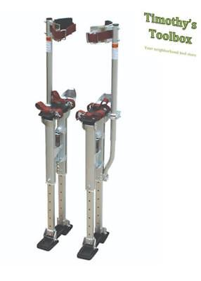 Contractor Plus Professional Dual Spring Aluminum Drywall Stilts 24''-40''- NEW