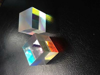 2pcs 2X2X1.7CM Colorful Defective X-Cube Prism Physic Teaching or DIY Decoration