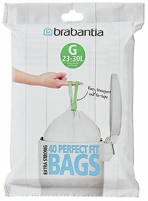 Brabantia 60 Litre Perfect Fit Bin Bags Size H - Pack of 30