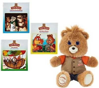 Teddy Ruxpin Animated Storytelling Bear with 3 Books Bluetooth QVC Exclusive