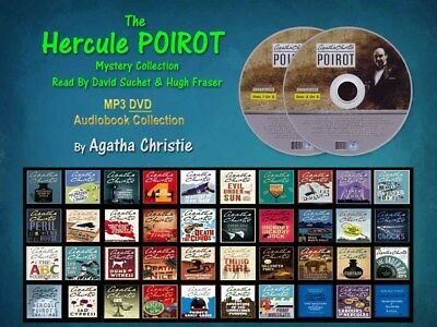 The HERCULE POIROT Mystery Series By Agatha Christie (40 MP3 Audiobooks)