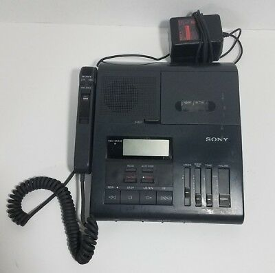 Sony BM-850 Microcassette Dictator Transcriber w/ HU80 Hand Control Microphone