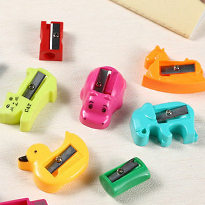 3PCS Kawaii Candy Color Hand Pencil Sharpeners Student Supplies Gift Prizes
