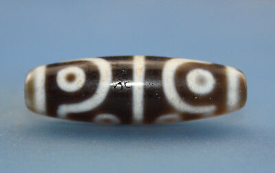 38*12 mm Antique  Dzi  Agate old 8 eyes Bead  from Tibet ***Free shipping***