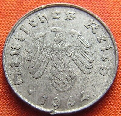 Ww2 German 1944 - G 10 Reichspfennig 3Rd Reich Zinc Nazi Germany Coin (Rl2072)