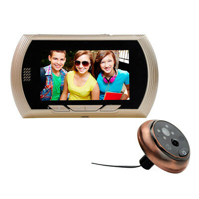"4.3"" TFT LCD 140°Digital Peephole Door Viewer Video Camera Monitor Doorbell IR"