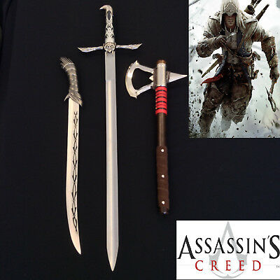 Assassin's Creed Sword of Altair,Connor's Tomahawk & Full Tang Knife set