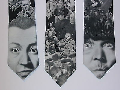 3 Lot The Three Stooges Moe Curly Ralph Marlin Tie 90's Novelty Gift USA NWOT