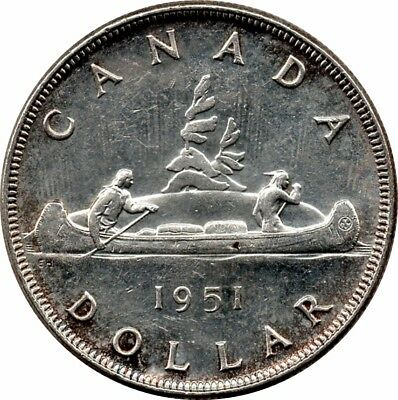 1951 Canada 1 Dollar George VI CHOICE BU
