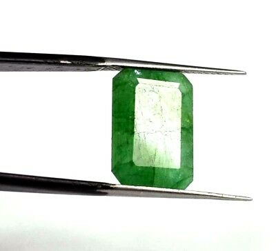"EGL Certified 8.60 Ct Natural Emerald Cut A+ Green Emerald Gemstone ""Hurry Now"""
