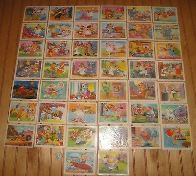 "Lot of Vintage 1971 Spanish Mexico? 3"" X 4"" Hanna-Barbera Sticker Trading Cards"