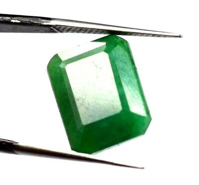 "EGL Certified 9.80 Ct Natural Emerald Cut A+ Green Emerald Gemstone ""Hurry Now"""