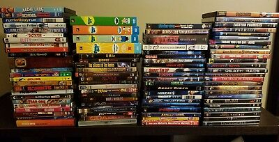 Lot of 88 DVD and Blu-ray movies/TV - superhero, horror, comedy, action, drama