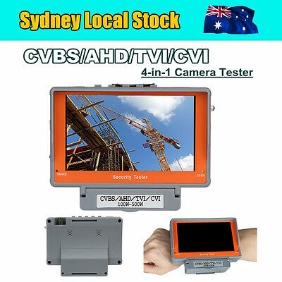 Local 4in1 Wrist CCTV Tester Camera Monitor CVBS/AHD/TVI/CVI 100W-500W DC 12V