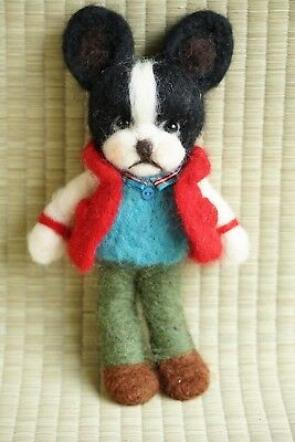 Needle Felted Dogs  - Boston Terrier