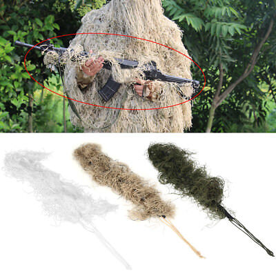 Army Hunting Camo Paintball Airsoft Ghillie Sniper Rifle Wrap Cover Strap LJ