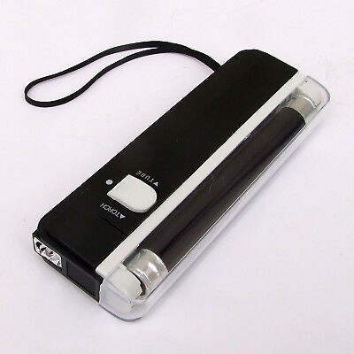 Portable Uv Bank Note Money Checker Counterfeit Forged Fake Detector + Torch