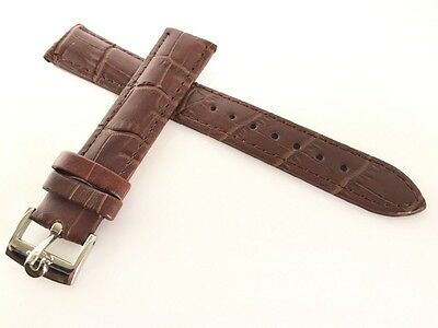 Omega Watch Band/strap Brown Genuine Leather 18Mm