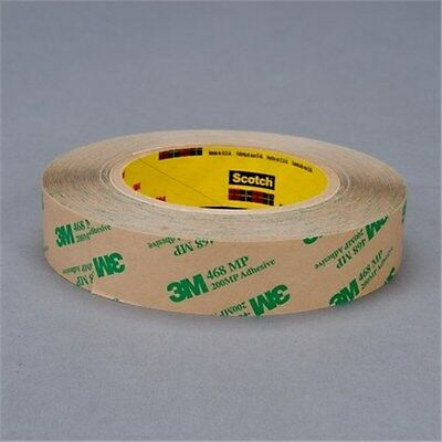 "2-Pak Volume Discount 3M 468MP 1"" x 60 yd Clear Adhesive Transfer Tape UPC 19337"