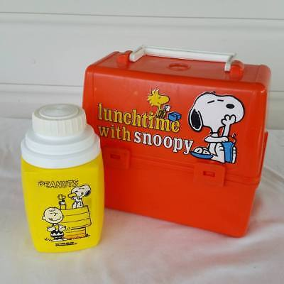 Vintage Snoopy Lunchbox With Thermos Lunchtime With Snoopy Peanuts 1965