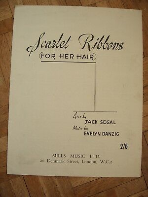Piano music for Scarlet Ribbons