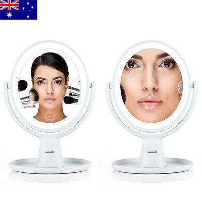 Free Ship 1X 5X Magnifying Mirror Double-Sided 18 LEDs Desk Makeup Mirrors