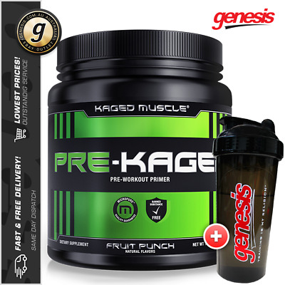 Kaged Muscle PRE-KAGED - Best Pre Workout Energy Pumps Focus + Free Gift!