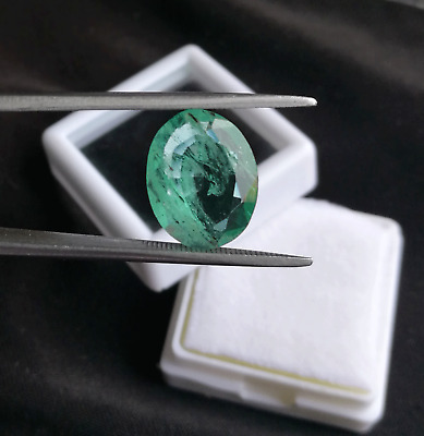 2.95 Ct Natural Oval Shape Top Green Colombian Emerald  Loose Gemstone EB23