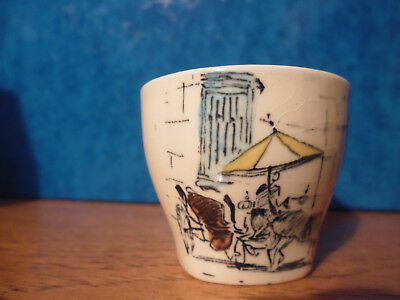 Hugh Casson Egg Cup, Riviera, Midwinter, Vintage Pottery, Good Condition