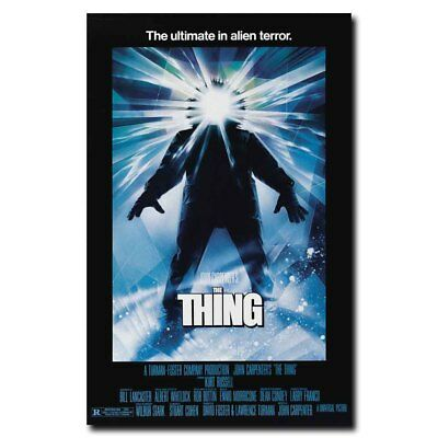 The Thing 12x8inch Classic Horror Movie Mini Silk Poster Door Wall Decals