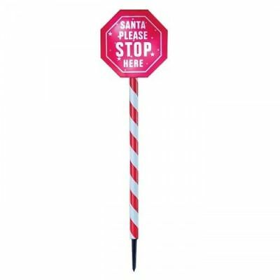 "Premier Light Up Xmas Christmas Festive Outdoor ""Santa Please Stop Here"" Sign"