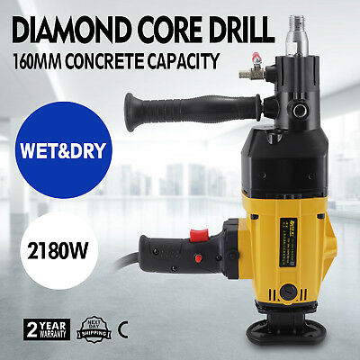 160MM Diamond Percussion Core Drill Wet & Dry Handhold Heavy Duty Masonry GREAT