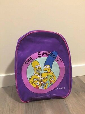 Vintage 90's The Simpsons Girls Backpack