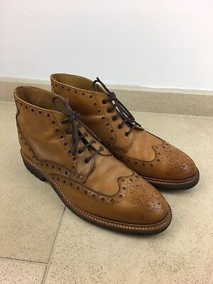 Oliver Sweeney Tan Brogue Boots Size 11