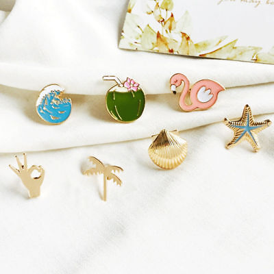 6 Types Brooch Pin Clothes Badge Alloy Jewelry Dress Shirts Wedding Party Decor